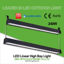 Diseño caliente 240w LED Linear High Bay Lighting 5 años de garantía