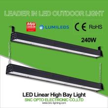 Baía alta linear do diodo emissor de luz do projeto 240w quente que ilumina 5 anos de garantia