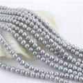 7mm gefärbte graue Farbe weg von der runden natürlichen Frischwasserperle lose Perlen-Strang