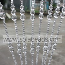 Best Quality for acrylic crystal bead curtain Xmas Decoration 6MM&10MM&12MM&14MM&16MM Wire Crystal Acrylic Beading Garland Trim export to Suriname Supplier