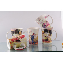 New Bone China Tulip Mug (CZJM1125)