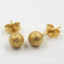 Yellow Gold Plated Fashion Jewelry Stud Imitation Earrings
