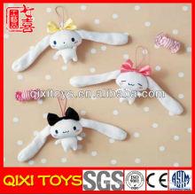 Popular design top quality long ear plush bunny keychain