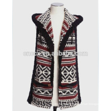 PK17ST304 new fashion ACRYLIC knitted Hooded Scarf