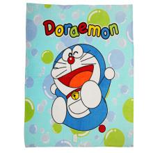 Impressão da tela do cobertor do velo de Doraemon