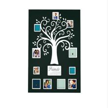 Hölzerner Stammbaum-Fotorahmen der Wand