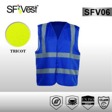 High visibility reflective construction clothing railroad blue protective vest