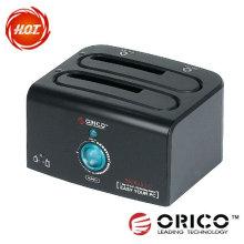 ORICO 8628 US3-C 2 estação de ancoragem HDD, USB 3.0, disco rígido de disco rígido HDD clone
