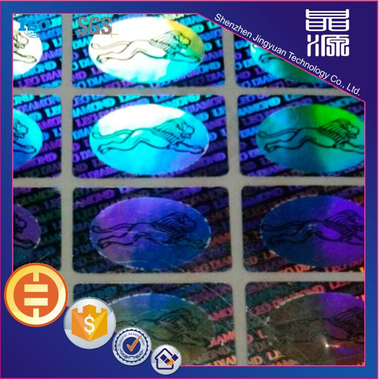 Label Stiker Hologram 3D Laser Rectangle