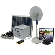 40w solar led lighting System,solar powered TV and fan