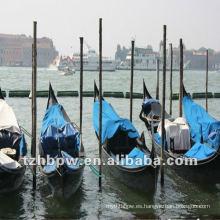 Impermeable y cubierta impermeable del barco, cubierta del PVC