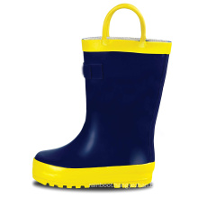 Wholesale  Keep Warm Kids Rain Boots with Easy-On Handles