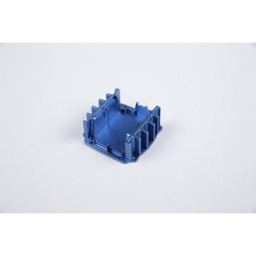 Carcasa de fresado CNC con anodizado azul