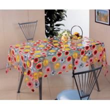 Toalha de mesa transparente do PVC, material impresso do PVC e forma quadrada, Oilproof, descartável, característica impermeável