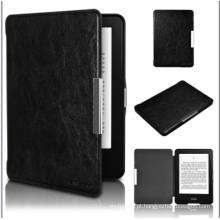 Estojo de couro Caso do couro do estilo do livro do E-Leitor de 6 polegadas para a viagem de Amazon Kindle