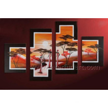 Canvas African Art Painting for Home Decor (AR-147)