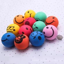 Mar de relevo de Stress de rosto Smiley Smile multi-funcional bola 6,3 CM mão pulso Bouncy exercício bola Squeezing ventilação bola brinquedo