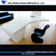 New 2014 Artificial Stone Curved Office Desk for Sale