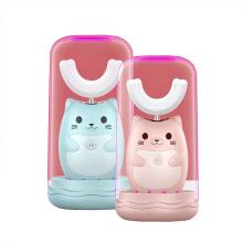 Brosse à dents électrique automatique pour enfants en silicone en forme de U