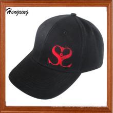 Schwarze Mode-Stickerei-Baseballmütze