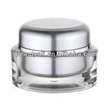 Oval 1 oz Transparent Cosmetic Jar