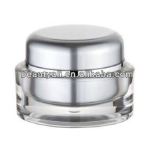 Oval 1oz Transparent Cosmetic Jar