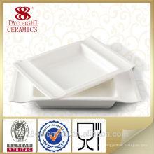 Großhandelsgebrauchtes Restaurantgeschirr, keramisches Tellerset