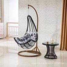 Cadeira de suspensão exterior da lua do balanço do rattan da mobília do jardim
