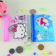 Popular plastic printed cheap promotional cat face coin purse