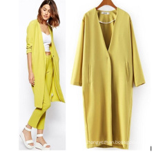 Custom High Quality Boutique Winter Loose Women Long Coat