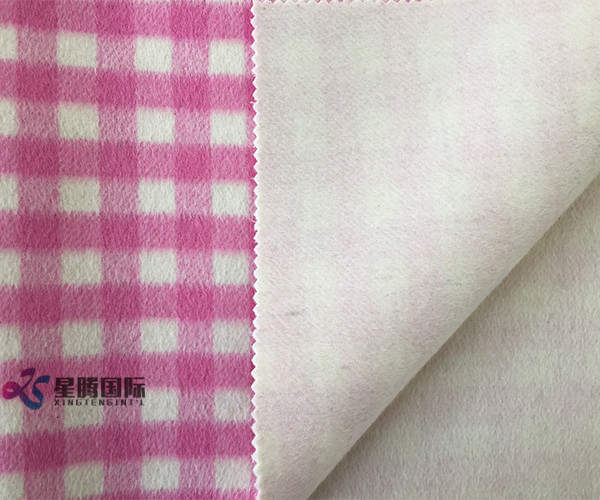 Both Sides Of High Quality Plaid 100% Wool Fabric