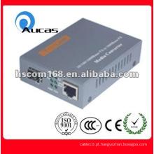 10 / 100M conversor de mídia de fibra óptica, com suporte padrão 100Base-FX
