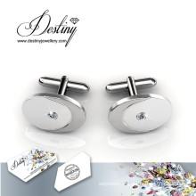 Bijoux cristal de Swarovski rond parfait boutons de manchette de la destinée