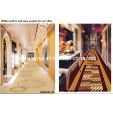 Machine tissée Wilton Broad Loom Wool Hotel Corridor Tapis