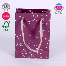 Nueva bolsa de papel de lujo para compras de tela