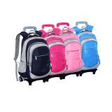 waterproof kids school backpack with wheels, boys wheeled school book bag for girls