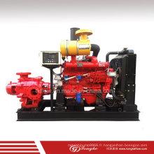 Pompe de lutte contre l'incendie horizontale à haute pression à moteur diesel à multisatge