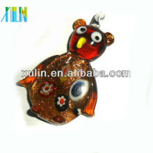 fashion glass animal beads for dichroic fused glass pendant
