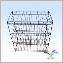 customized black colorful floor standing wire floor potato chip display rack