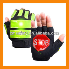 Высокий Отражательный полиции светодиодные дорожные перчатки