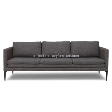 Sofa Triplo Meteorite Gray Fabric