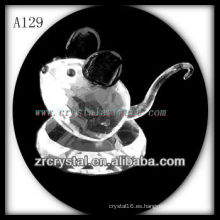 Bonita estatuilla de cristal animal A129