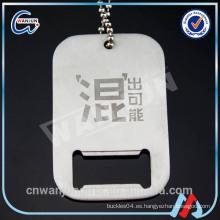 Anodizado collar de aluminio de la etiqueta de perro al por mayor