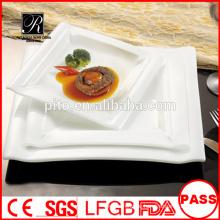 Neue quadratische Teller für Restaurant mit ausgezeichneter Preis Salatteller