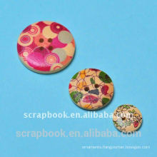 DIY printing decoration craft wood buttons