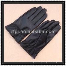Luvas pretas de couro para homens