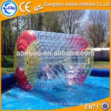 Juegos de agua inflables al aire libre agua flotante zorb bola de agua precio bola rodillo