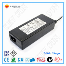 24v 3a power adapter switching 72w Class 2 Power supply 100-240V Inout