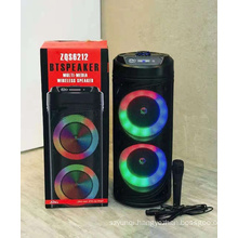 ZQS6212 New Arrivals Bt Wireless Speaker Led Light Dule 10 Inch Woofer Portable Disco Partybox