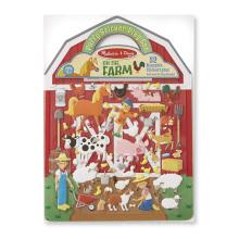 Jeu de cahier d'activités pour enfant autocollant gonflé réutilisable de ferme créative faite sur commande